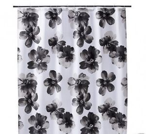 Home Threshold Target Shower Curtain Black White Gray Floral Watercolor W