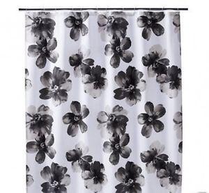 Threshold Shower Curtain White Black Floral Threshold