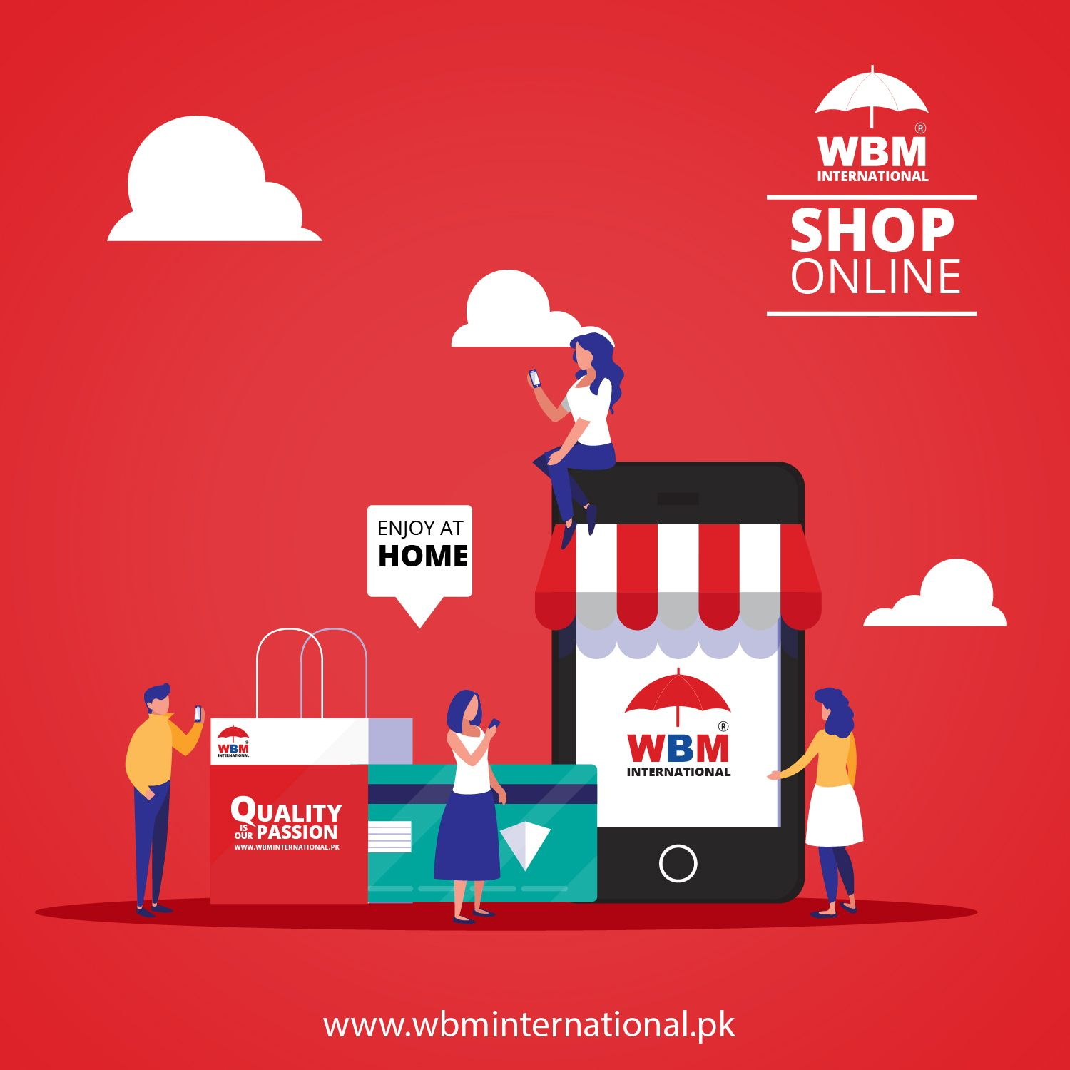 Shop Online while staying in your home. We are offering