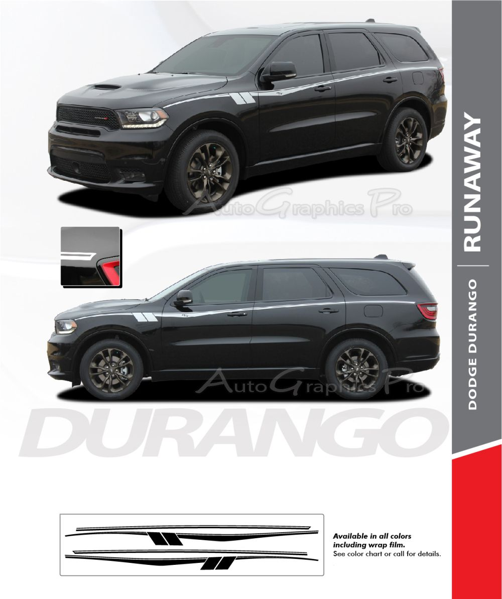 Ag6075 2011 2021 Dodge Durango Stripes Runaway Side Door Vin Stripe Kit Dodge Durango Dodge