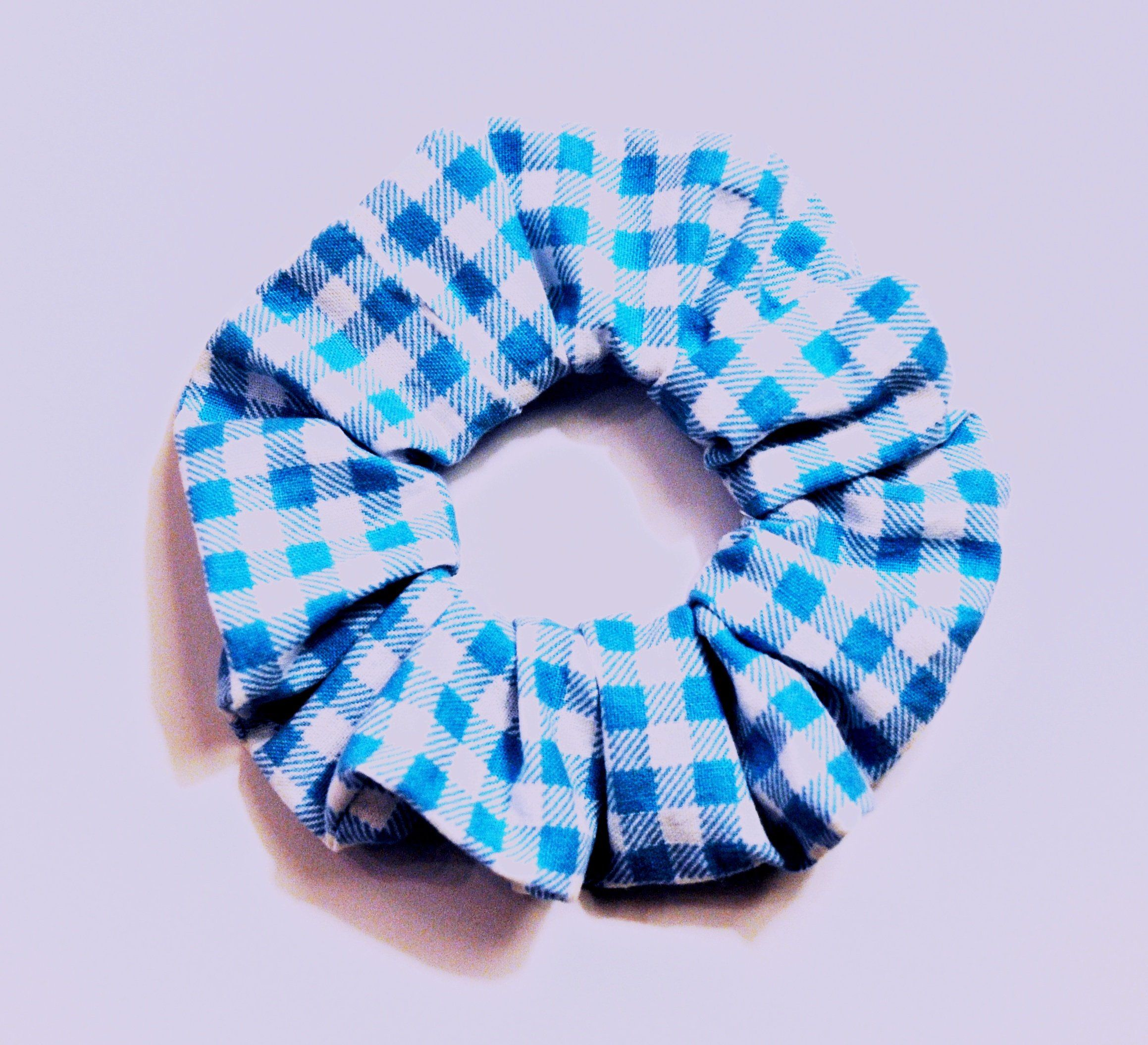 Dorothy Scrunchie Wizard Of Oz Blue Checkered Scrunchie Etsy Blue Scrunchie Blue Checkered Scrunchies