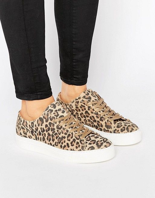 3f93e34ed7b0 Selected Femme Donna Leopard Sneaker Leopard Print Slip On Sneakers, Slip  On Shoes, Mode