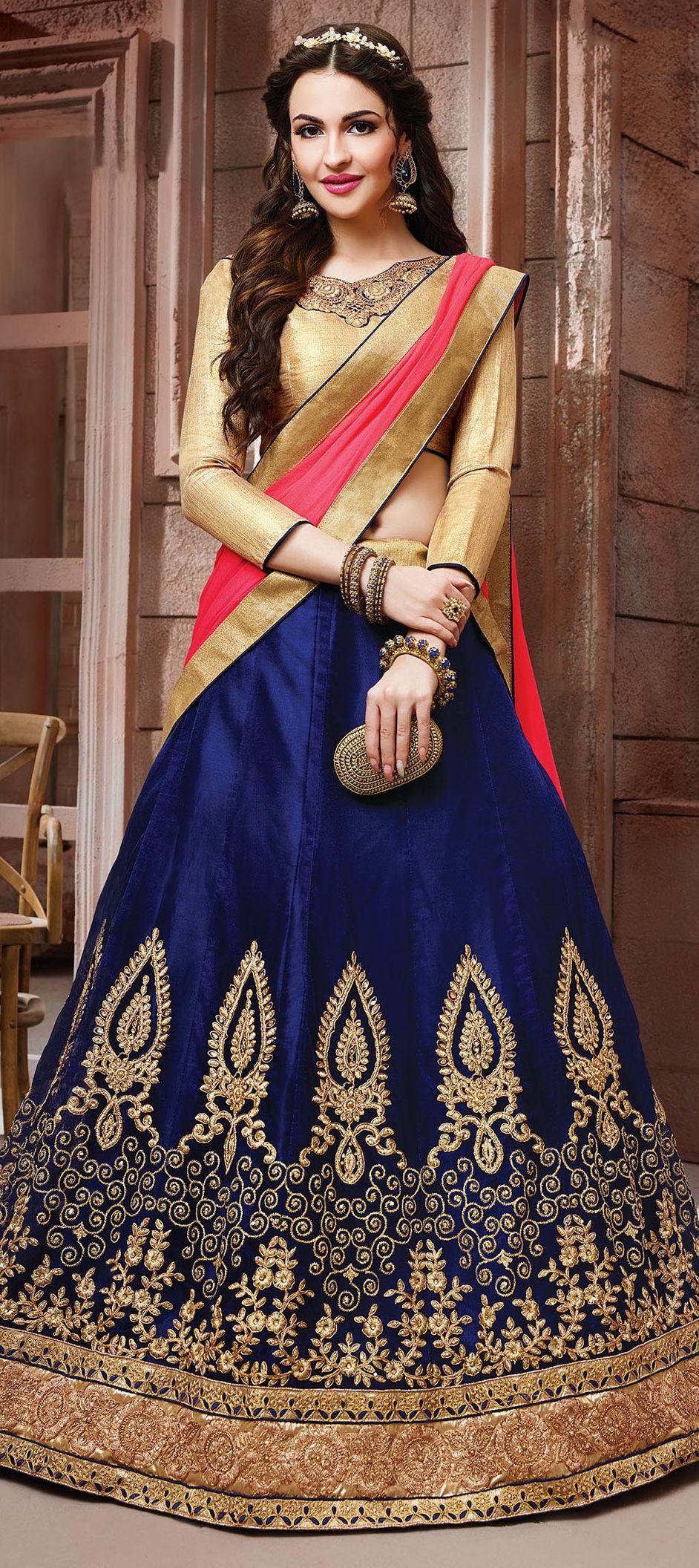 blue color family brides maid lehenga mehendi u sangeet