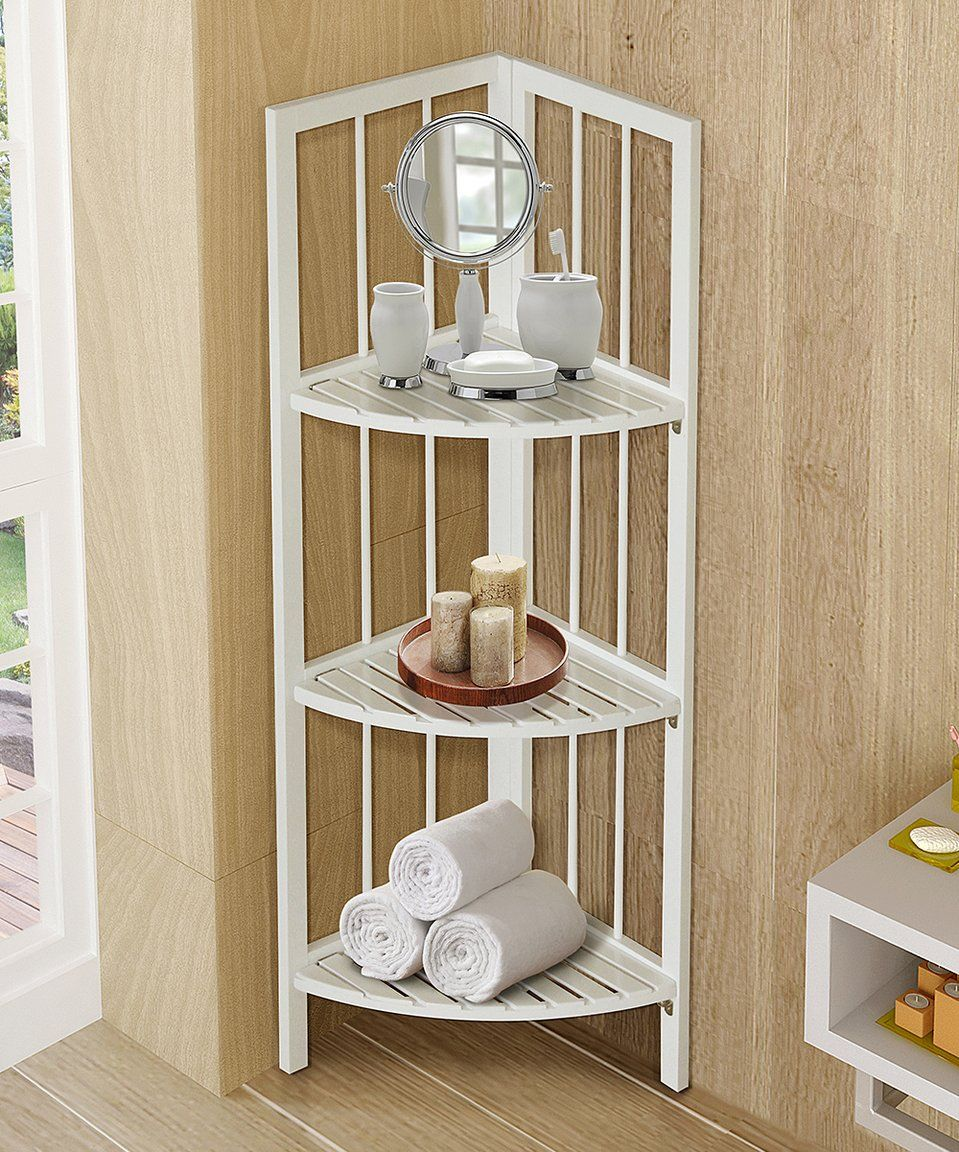 Take a look at this White Three-Tier Corner Tower Shelf today ...