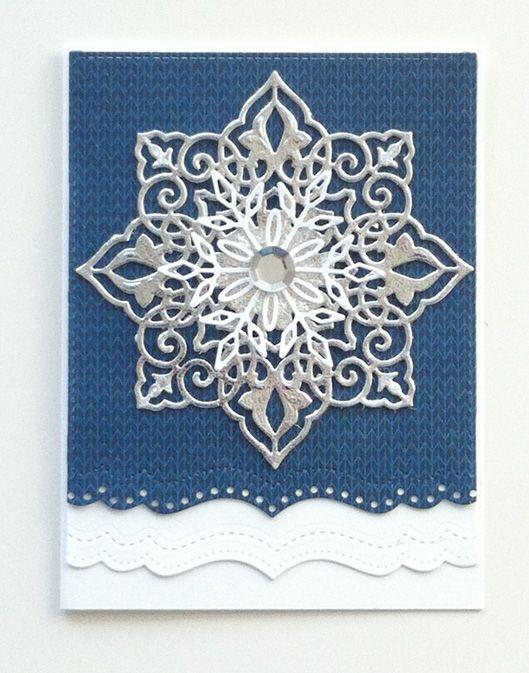 Christmas card - Joy star snowflake die, Memorybox snowflake die, Echo park Hello winter pad - julekort - Karte Weihnachten #EchoParkPaper - JKE