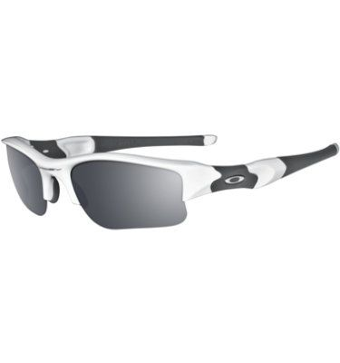 8fec32e972 Oakley FLAK JACKET XLJ Sunglasses - Polished White   Black Iridium ...