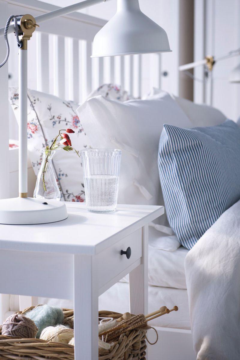 Hemnes Bettgestell Weiss Gebeizt Ikea Deutschland Rustikales Schlafzimmer Haus Deko Zimmer