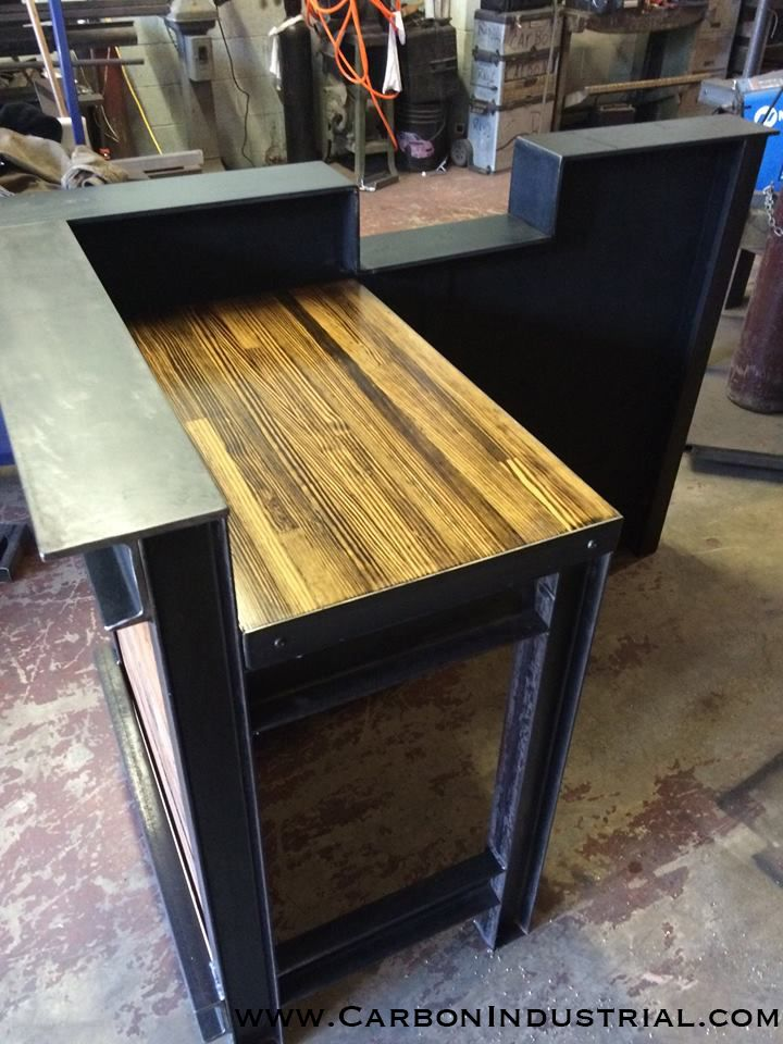 Stand Up reception desk made by Carbon Industrial using
