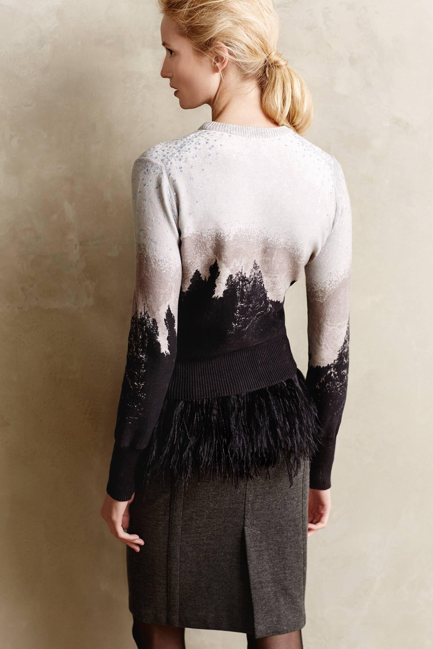 Treeline Printed Cardi (With images) Knitwear fashion