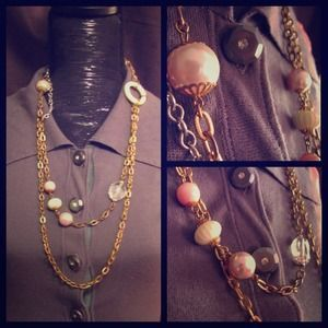 I just added this to my closet on Poshmark: Multi-media bauble necklace from Saks Fifth Avenue. Price: $32 Size: OS