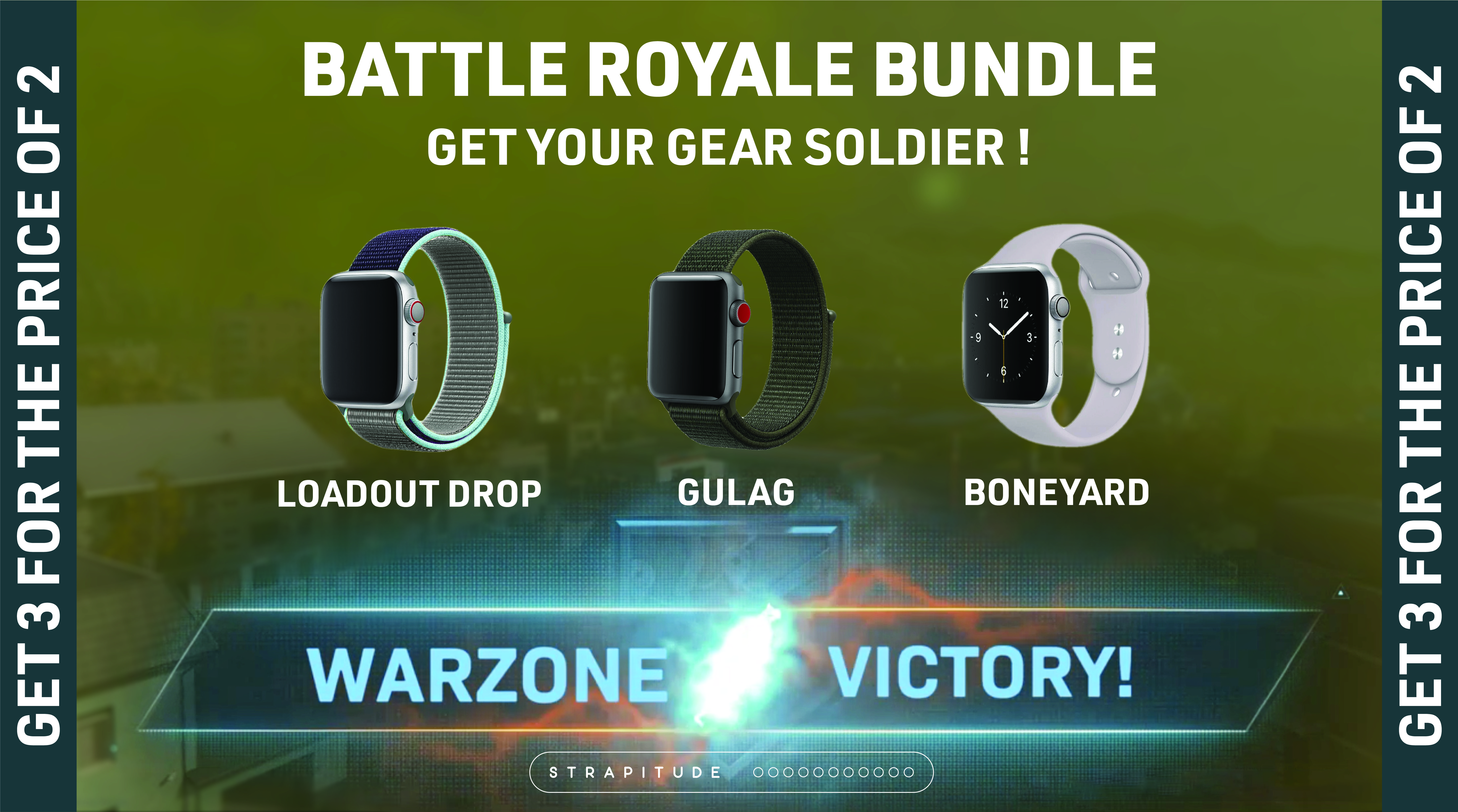 Warzone Apple Watch Bands Bundle Pay For 2 Get 3