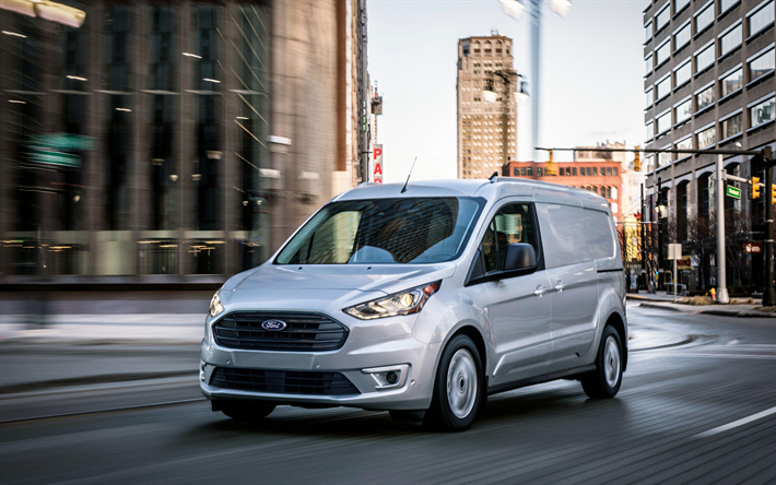 Download Wallpapers Ford Transit Connect Van 4k 2018 Cars Minivan Ford Transit Connect Ford Voiture Fourgon Van Cargo