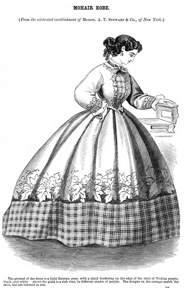 1864 Godey's.. would LOVE to make this in the exact colors described by the plate... but honestly have NOT seen anything like this in CDV's or period photograpy. Merely a house gown?