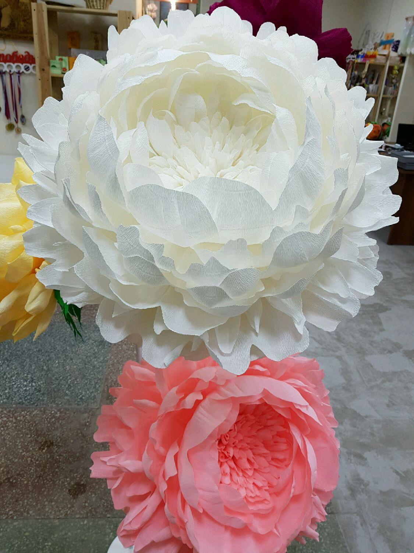 Большие цветы из бумаги своими руками пошагово фото 628
