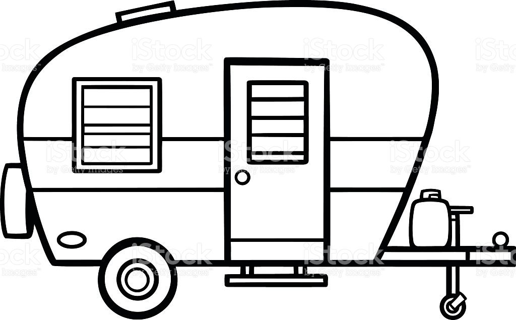 Image Result For Camper Line Art With Images Camper Clipart