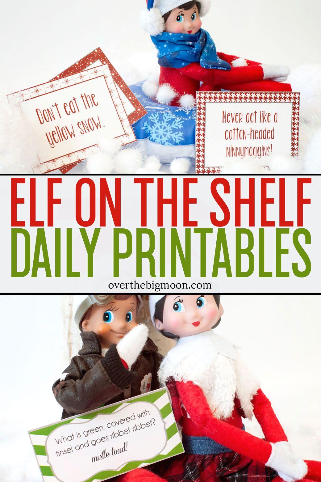 Elf on the Shelf Printables & Ideas Elf on the shelf