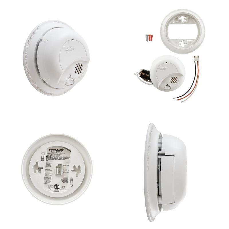 First Alert Brk Hardwired Smoke Alarm And Carbon Monoxide Detector 9v Battery Firstalert Smoke Alarms Alarm Carbon Monoxide Detector