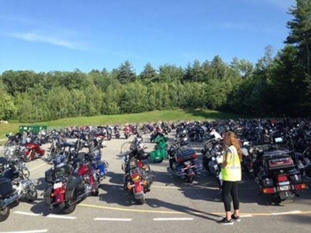 Free bike parking at Laconia Harley-Davidson® but get here early, the lot fills up fast! #laconiaharley #laconiamotorcycleweek #bikeweek
