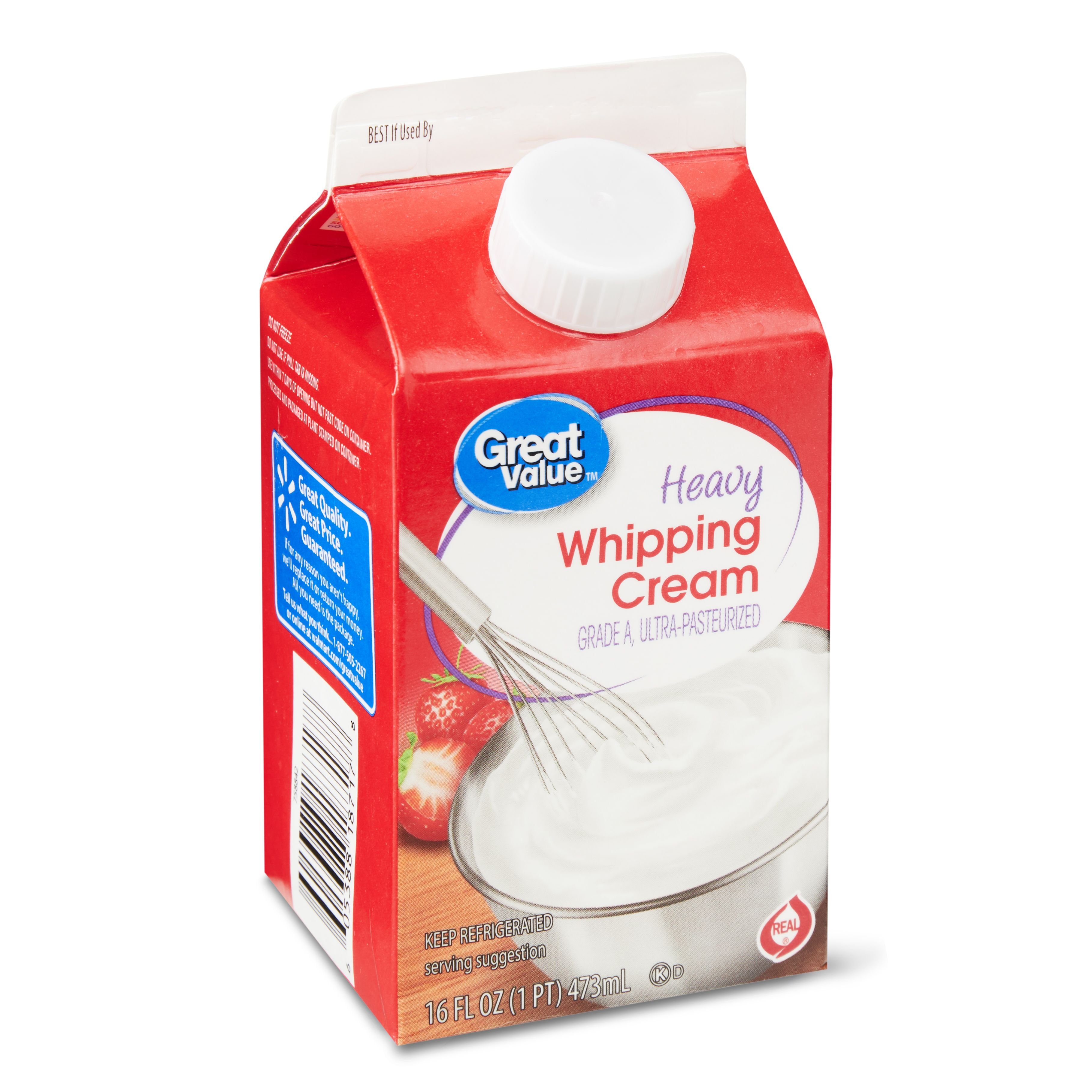 [1.58] Great Value UltraPasteurized Real Heavy Whipping