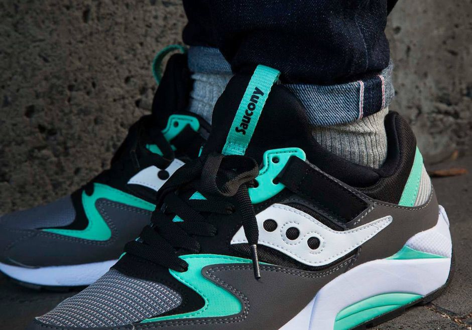 saucony grid 9000 teal