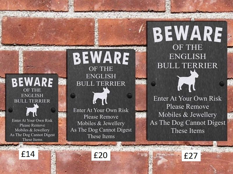 Humorous Beware Of The Dog Any Breed 3 Sizes From Only 14 Incl P And