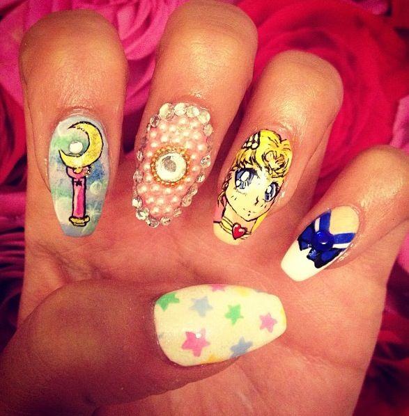 Uñas De Sailor Moon Kawaii Diseños De Uñas Arte De Uñas