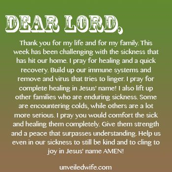 Prayer When Sickness Hits Homes Prayer Of The Day For Marriage