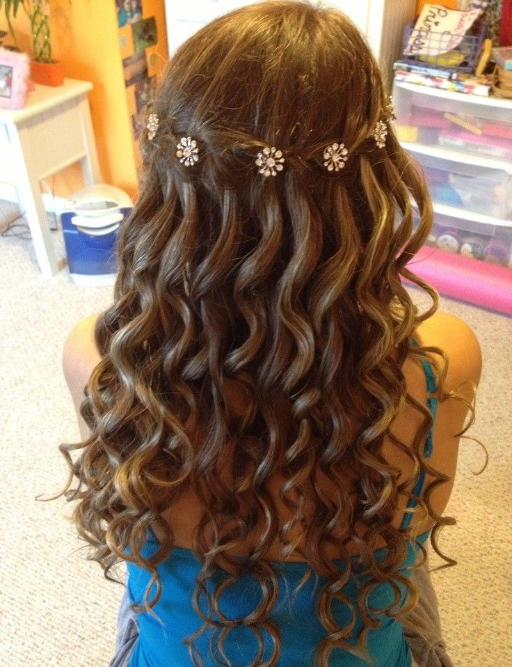 Waterfall Braid With Curls For Prom Sophisticated Nail And Hair Care Tips And Tricks By Loose Curls Hairstyles Waterfall Hairstyle Waterfall Braid Hairstyle