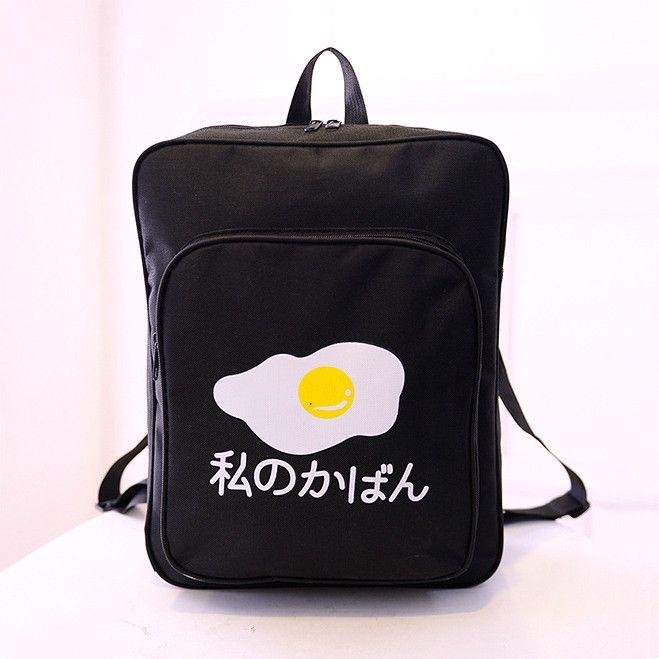 Fashion japanese egg backpack Cute Kawaii Harajuku Fashion - clothing sponsorship