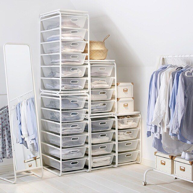 Adaptable storage like the #IKEA ALGOT system helps you to