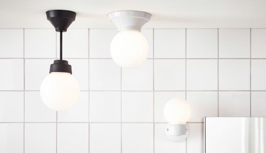 $20 spray paint w/ brass - kitchen and Bathroom lighting with a traditional look from the VITEMÖLLA series