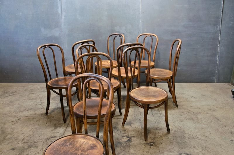 Vintage Thonet Bentwood Bistro Chairs - I want! - Austrian Thonet Bentwood Cafe Chairs : 20th Century Vintage