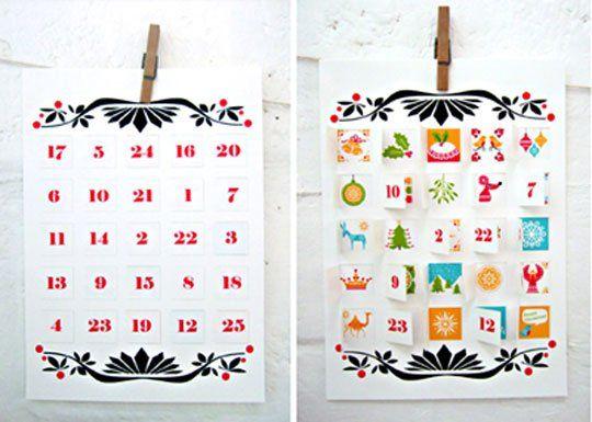 Free and Easy Printable Advent Calendar