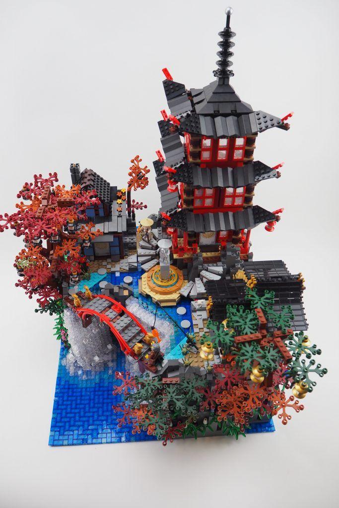 Lego Ninjago Waterfall Temple Lego Ninjago City Lego Architecture Lego