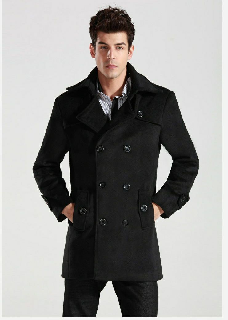 Men Trench Coat Double Breasted Outwear Cheap Winter | Fashideas ...