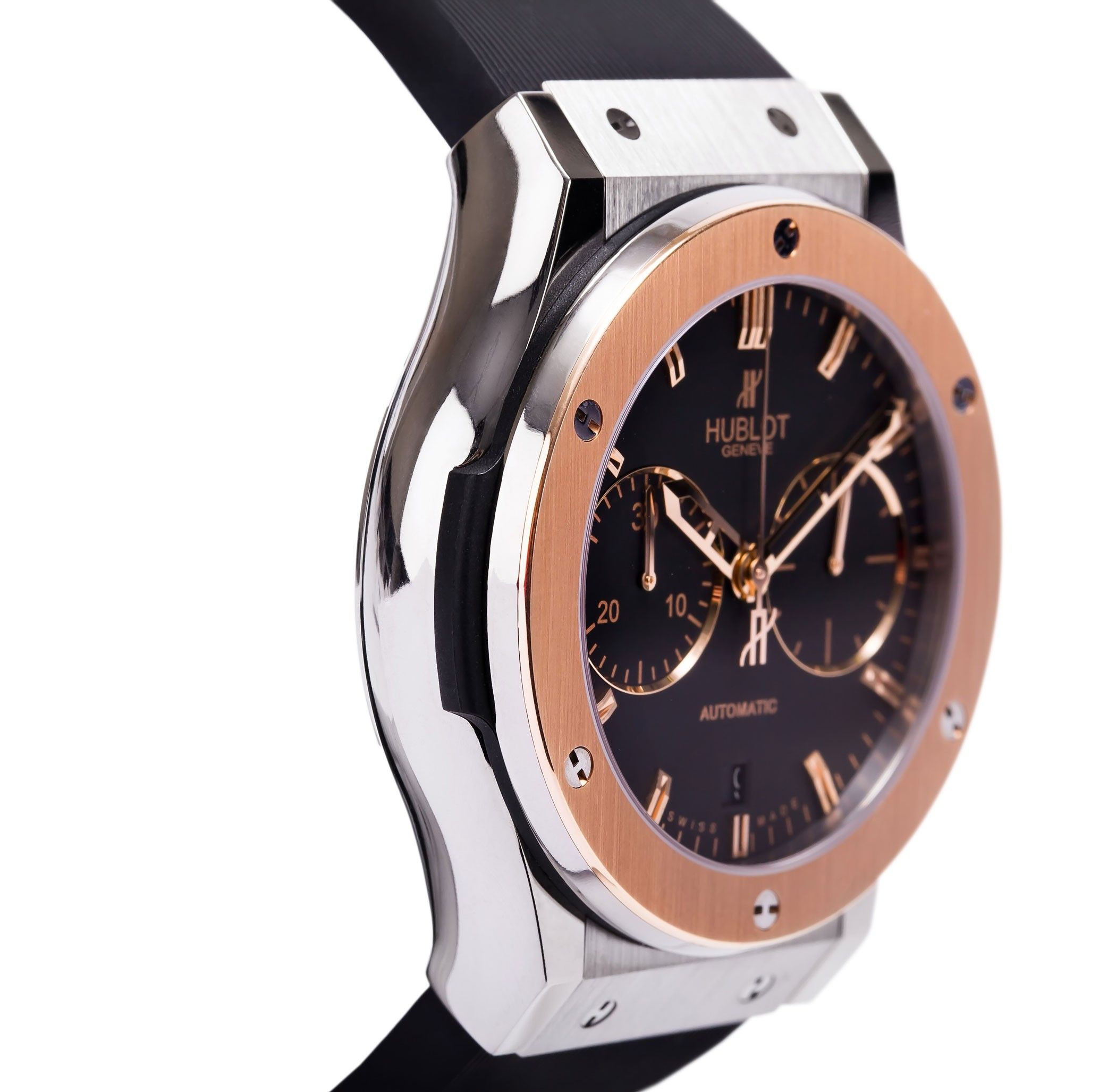 hublot classic fusion chronograph 45mm titanium rose. Black Bedroom Furniture Sets. Home Design Ideas