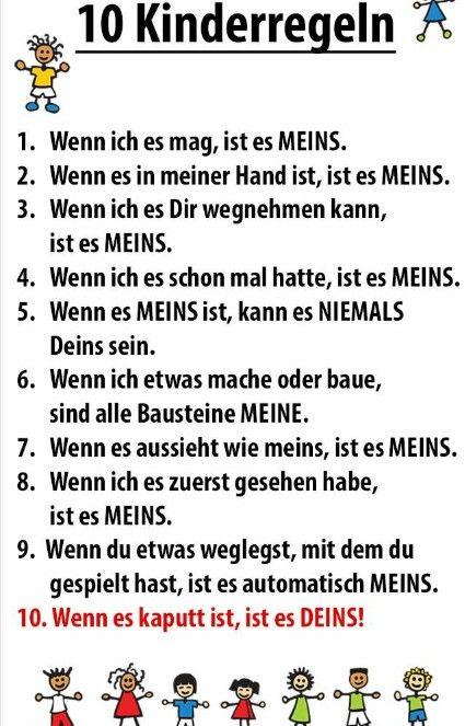 Lustige Regeln
