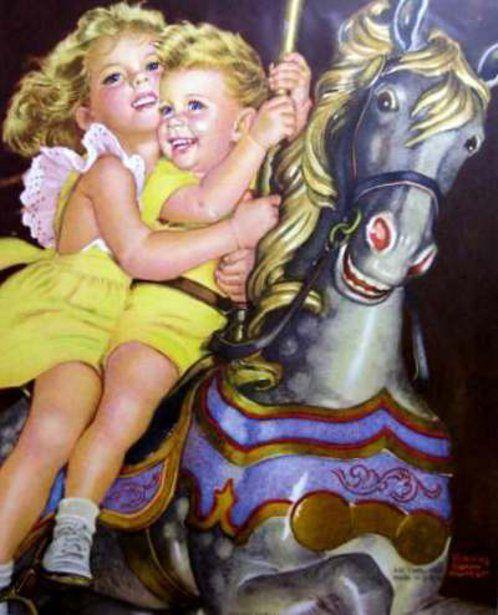 Frances Tipton Hunter (1896 – 1957, American)   I AM A CHILD