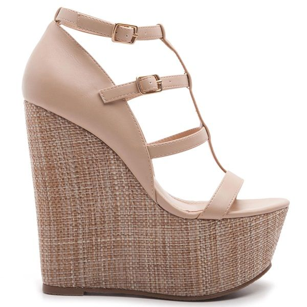 MIGATO | Wedge sandals, Wedge shoes