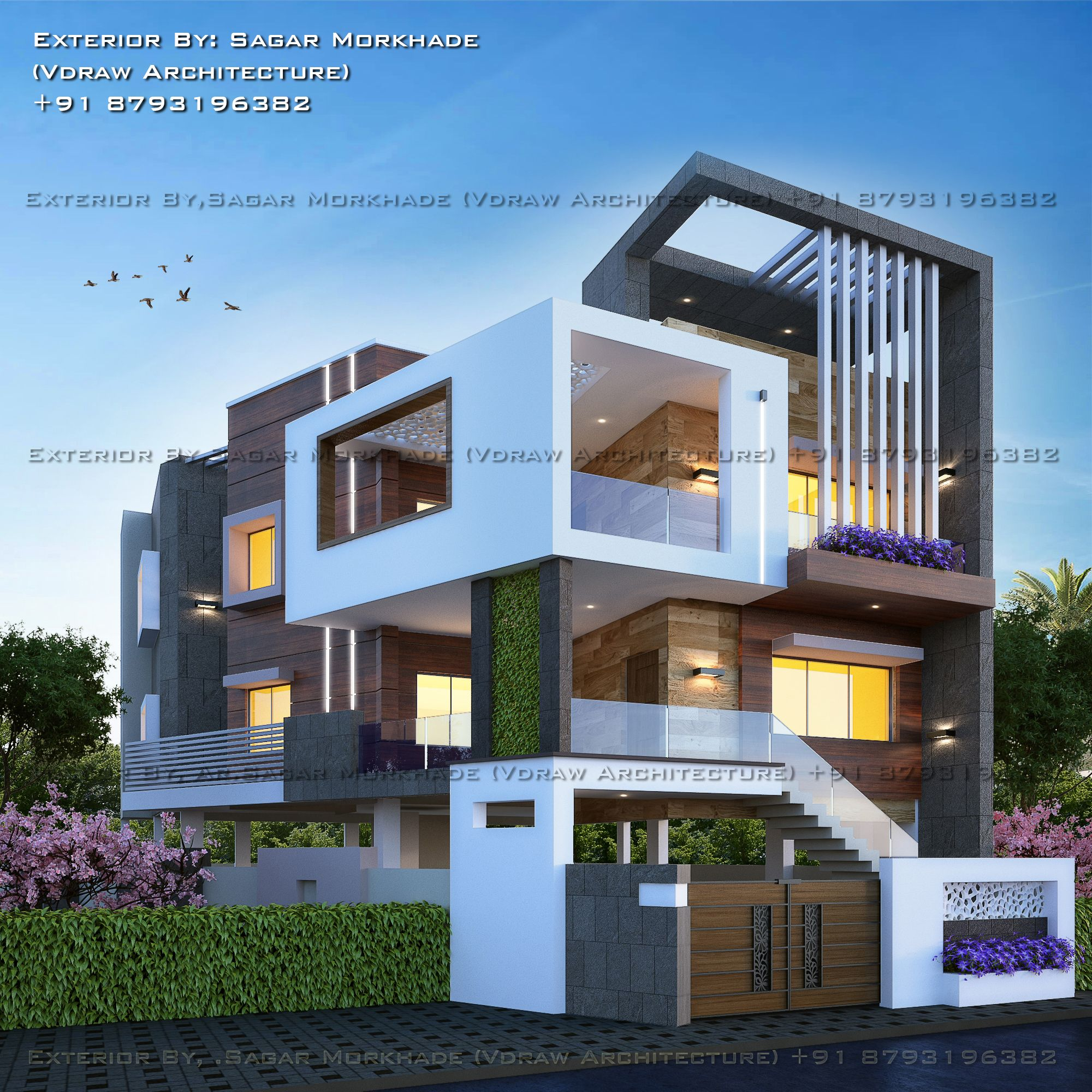 Home Design Ideas Bangalore: #Modern #Residential #House #bungalow #Exterior By, Ar