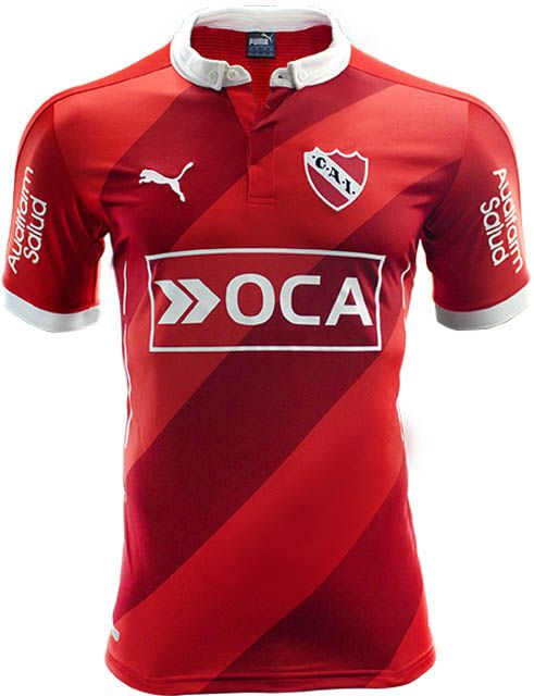 The new Puma Independiente 2016 Kit features a subtle diagonal stripes  design. 7ff29fb91be1b