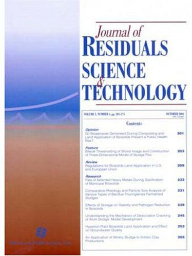 Journal of Residuals Science and Technology  http://www.allmagazinestore.com/journal-of-residuals-science-and-technology/