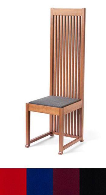 Chairs Robie 1 Chair Cherry Fabric Seat Wright Furniture Plans Frank Lloyd Wright Furniture Frank Lloyd Wright Decor