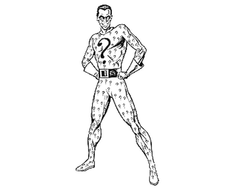 batman arkham city riddler coloring pages