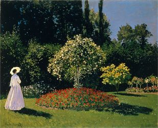 Woman In A Garden, Claude Monet