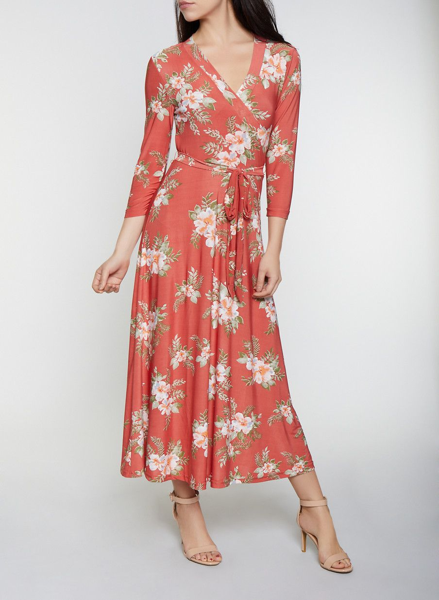 abba634220b8 Floral Faux Wrap Maxi Dress | 1094051062955 in 2019 | Products ...