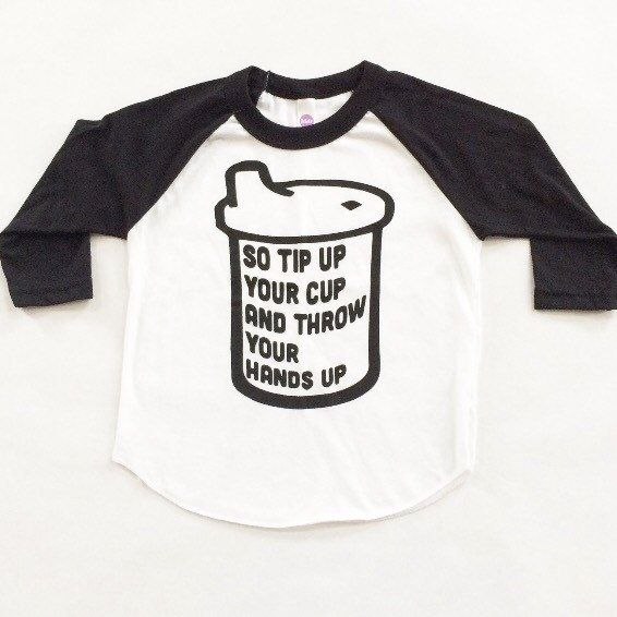 66dd9f72a Funny kids shirt. 90S RAP TEE. Cool kid Sipy Cup Tee. Black and white  baseball baby/toddler tshirt.