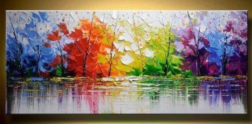Colleen STUDIO ORIGINALE MODERNO dipinto ad olio su tela Wall Art Immagini