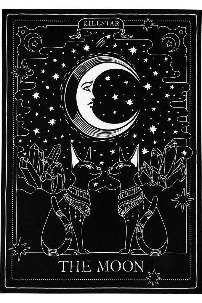 The Moon Tapestry B Tarot Cards And Decks 4kwallpaper 4kwallpaperphone 4kchristmaswallpaperiphone 4 The Moon Tarot Card The Moon Tarot Moon Tapestry