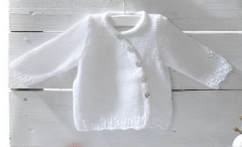 Book Special Peques 5 Autumn / Winter | 45: Baby Jacket | White